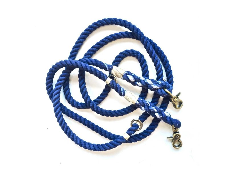 Green Trout Navy Cotton Adjustable Rope Lead