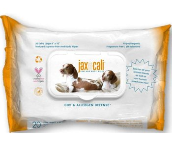 Jax & Cali Paw & Body Wipes, 20 count