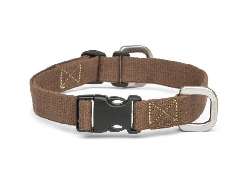 West Paw Strolls Hemp Collar, Brown