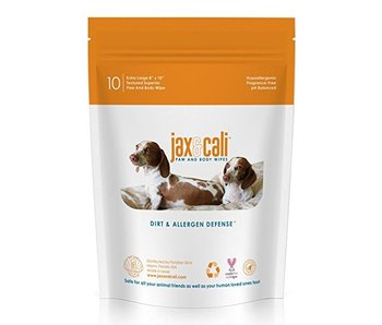 Jax & Cali Paw & Body Wipes, 10 pack