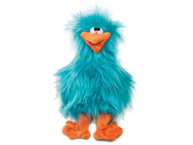 West Paw Spring Chicken Toy, Turquoise