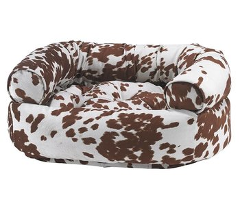 Bowsers Double Donut Sofa Bed, Cow Print