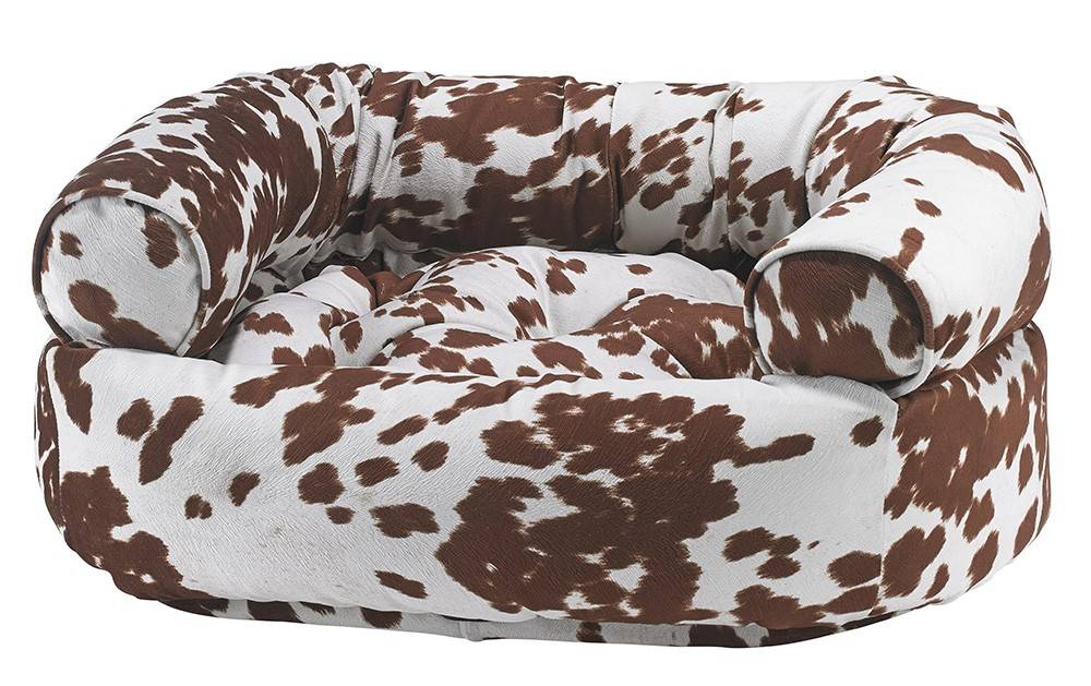 Bowsers Double Donut Sofa Bed Cow Print