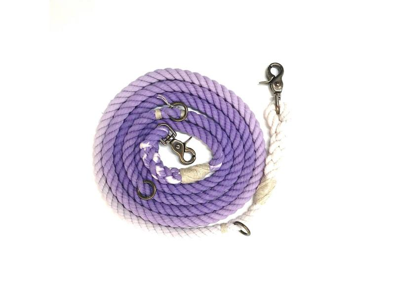 Green Trout Adjustable Rope Lead Purple Ombre