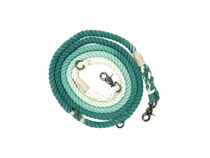 Green Trout Adjustable Rope Lead Green Ombre