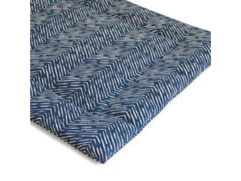 Janery Crate + Travel Mat Blue Herringbone