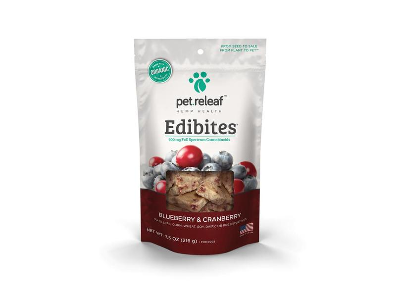 Pet Releaf Edibites CBD Blueberry Cranberry