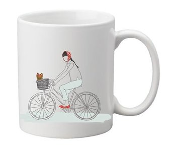 Dog On A Bike Mug