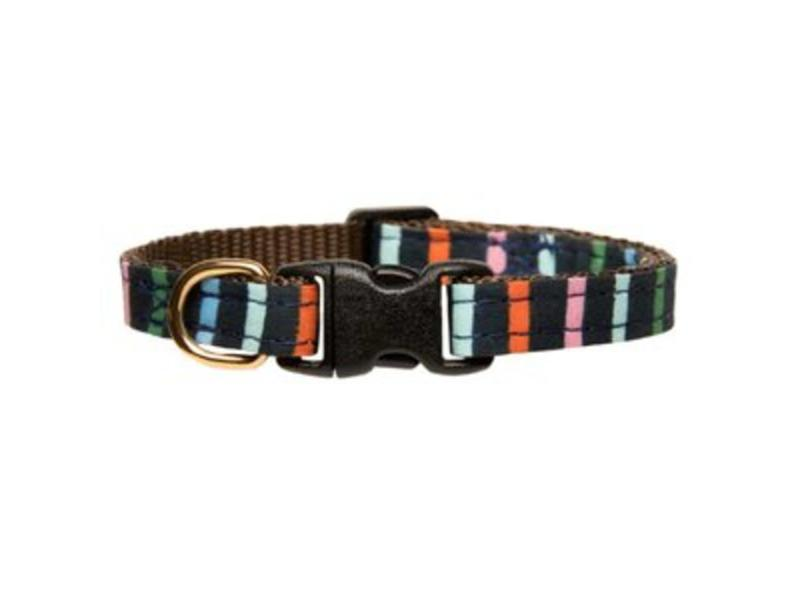 "Sweet Pickles Designs Cat Collar, ""Endless Summer"" Stripes"