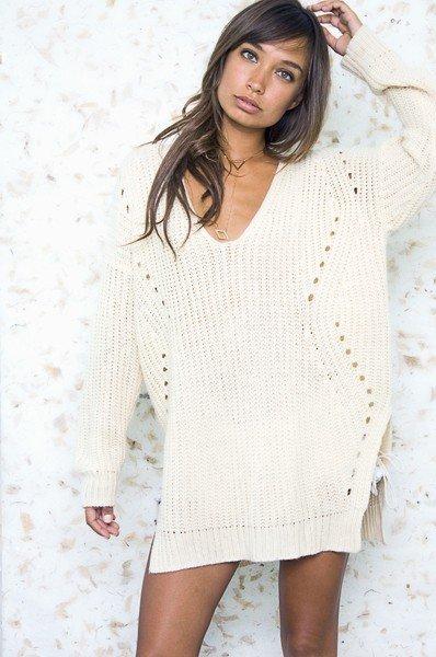 Haute Rogue Winter White Sweater