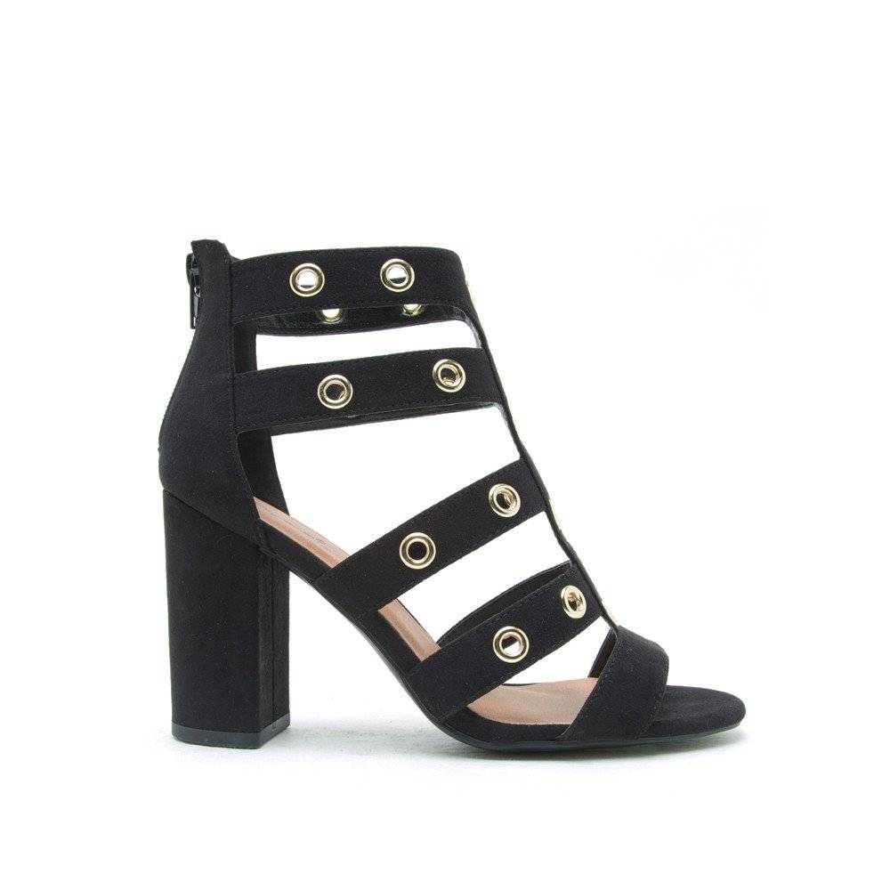 Qupid Chester Cage Heels