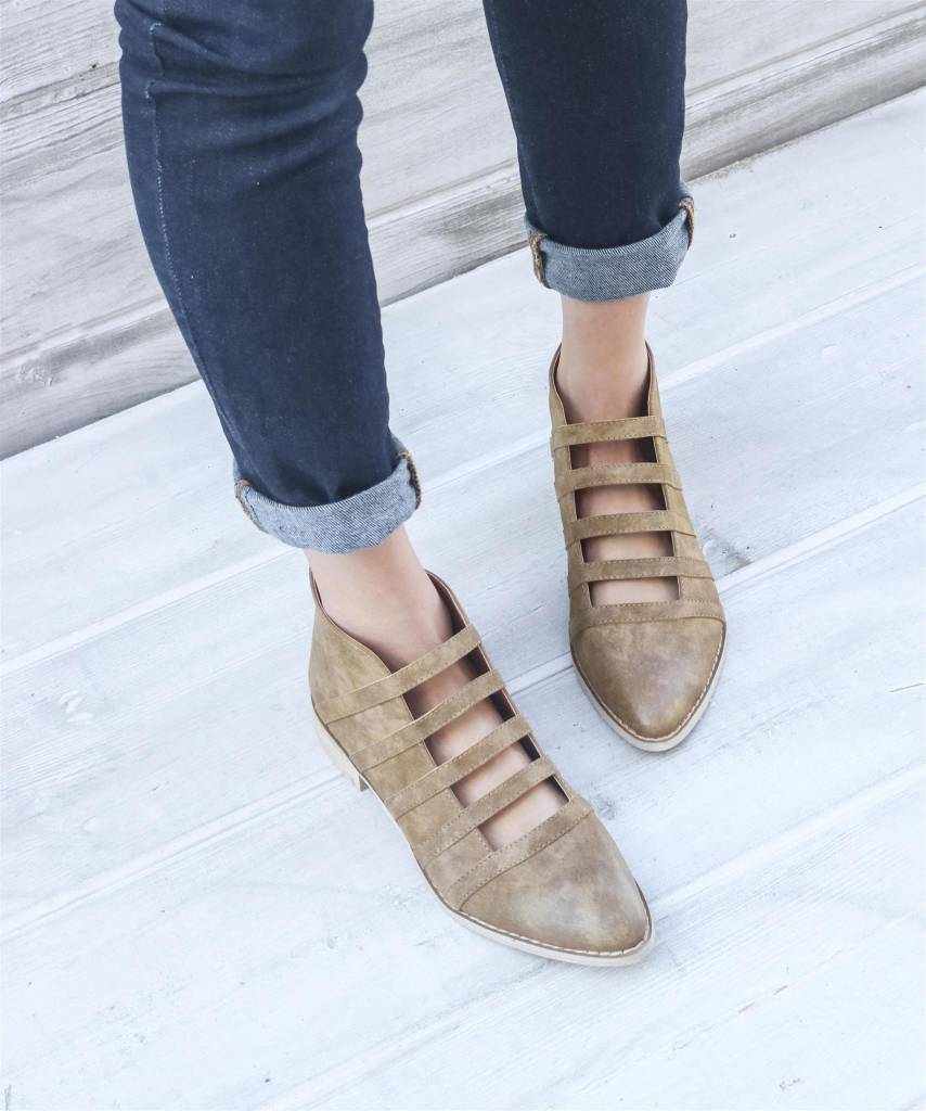 Miracle Miles Florence Cutout Booties