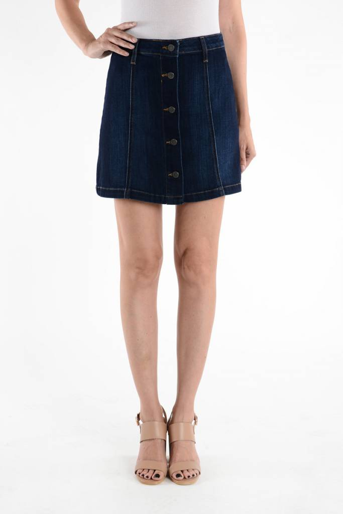 Just Black Jeans Denim Mini Skirt - Stella Dallas Boutique