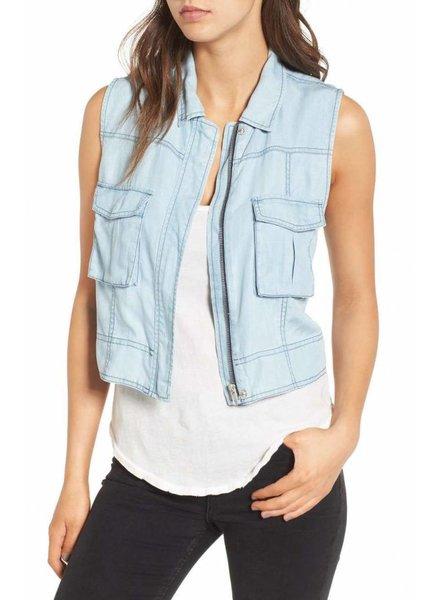 BB Dakota Xavier Chambray Vest