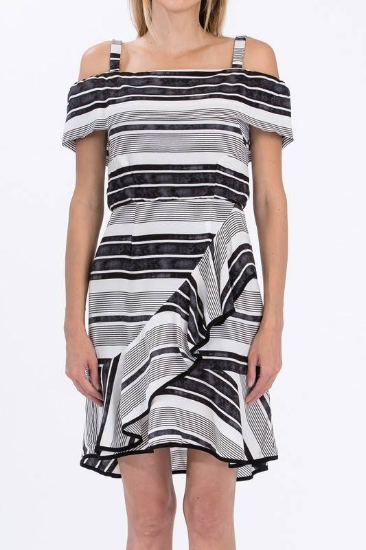 Olivaceous Andy Striped Dress