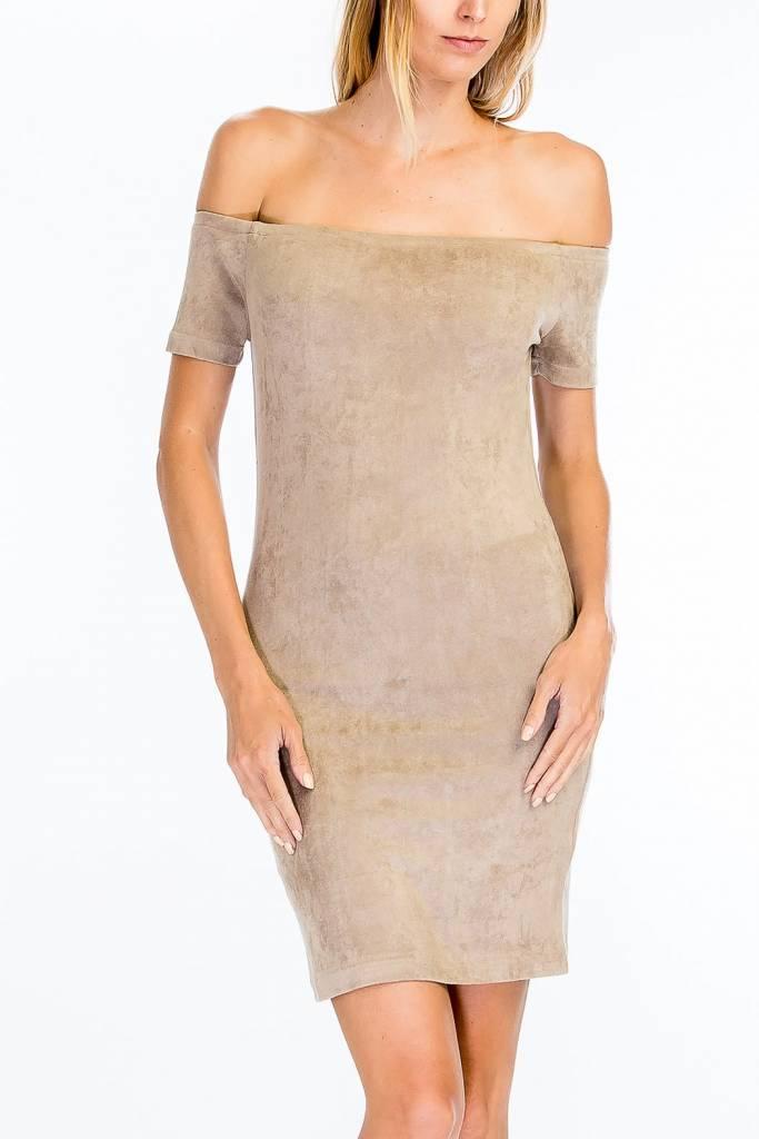 Olivaceous Brooke Suede Dress