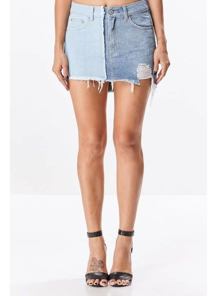 Uniq Two Tone Denim Skirt