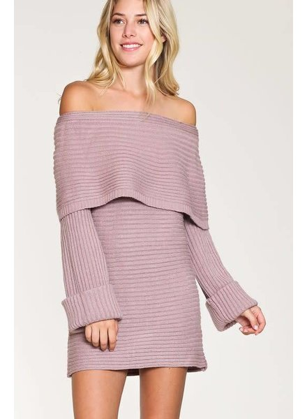 Listicle Off Shoulder Sweater Tunic