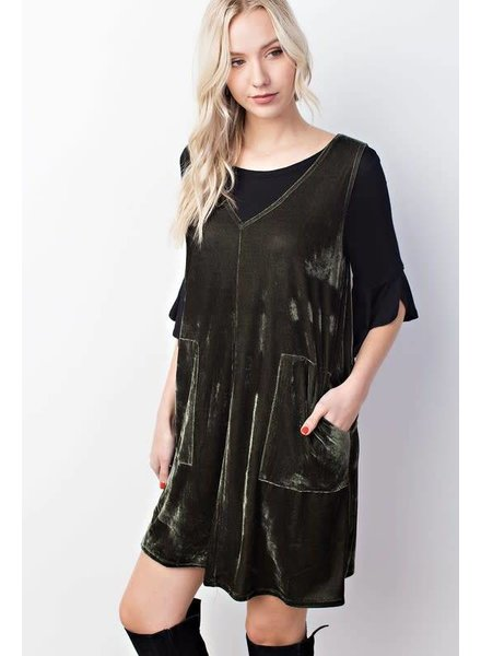American Fit Pocketed Overall Dress