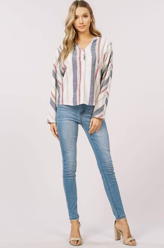 Listicle Dolman Striped Top