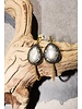 Native Gem Pearl Hammered Hoops