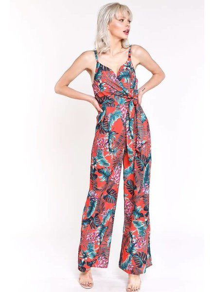 Blue Blush Tropical Jumpsuit
