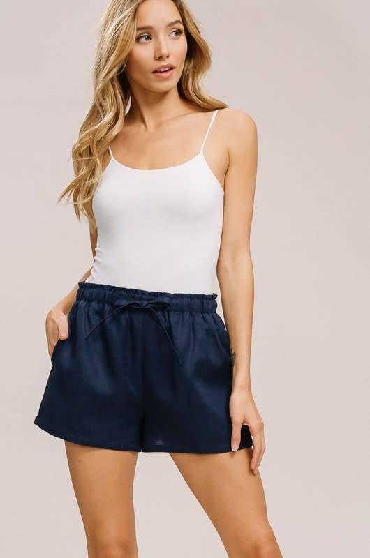 Listicle Linen Shorts
