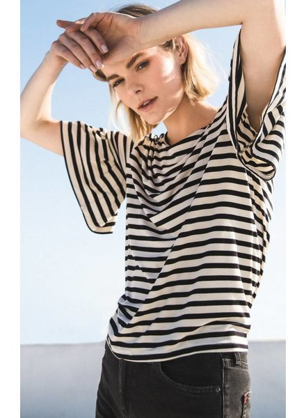 Z Supply Striped Ruffle Tee