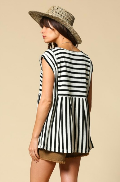 By Together Shaney Stripe Top