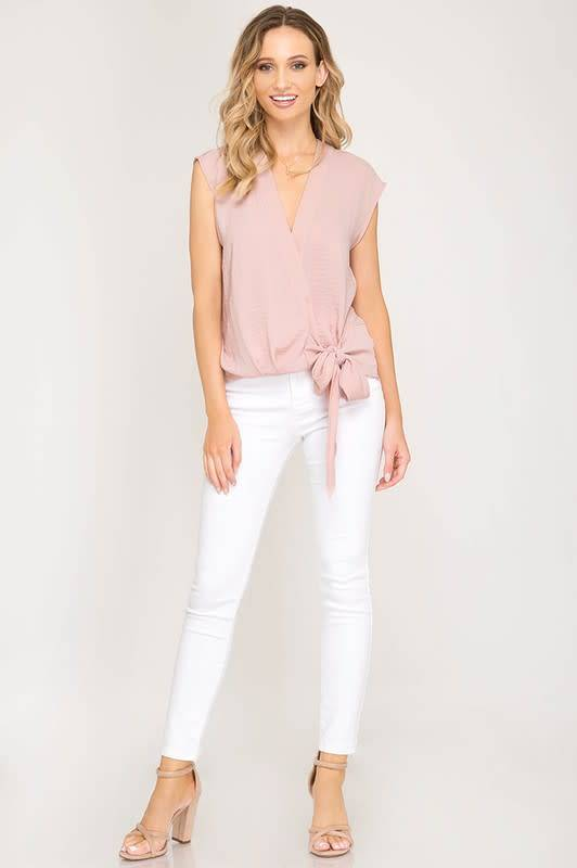 She + Sky Rosa Wrap Top