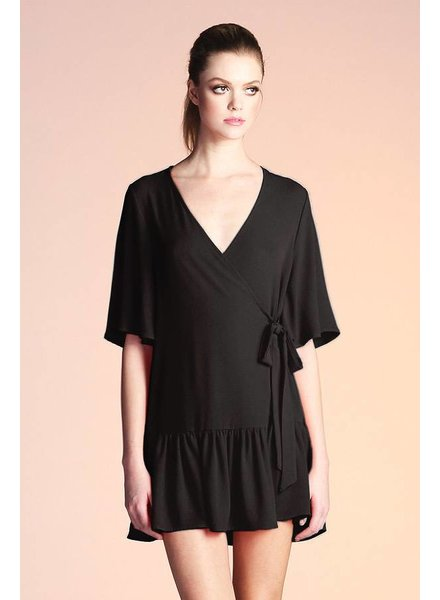 Tyche Dropwaist Wrap Dress