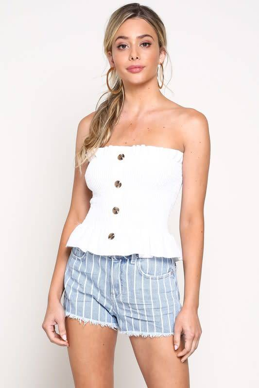 Blue Blush Oakleigh Crop Top