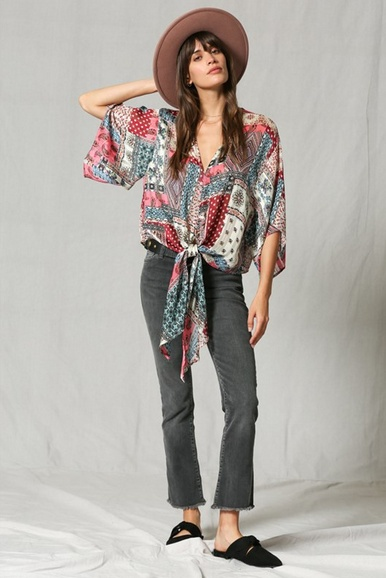 By Together Paisley Multi Top