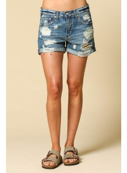 By Together Bailey Distressed Shorts