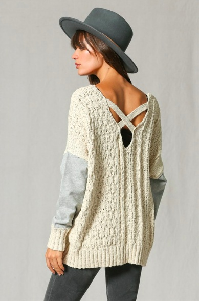By Together Mixed Media Sweater