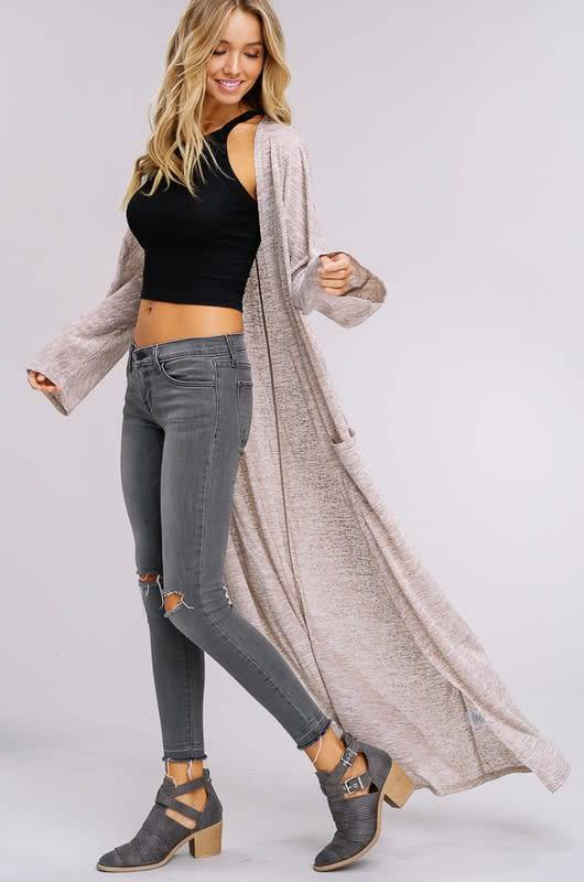Listicle Long Light Weight Cardigan