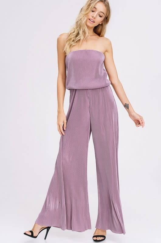 Listicle Strapless Palazzo Jumpsuit