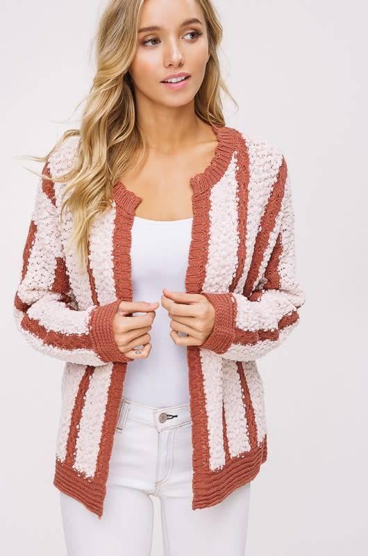 Listicle Striped Cardigan