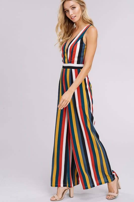 Listicle Kendall Stripe Jumpsuit