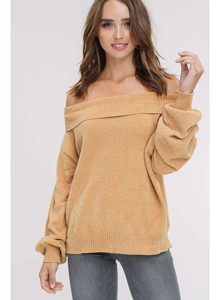 Listicle Puff Sleeve Sweater