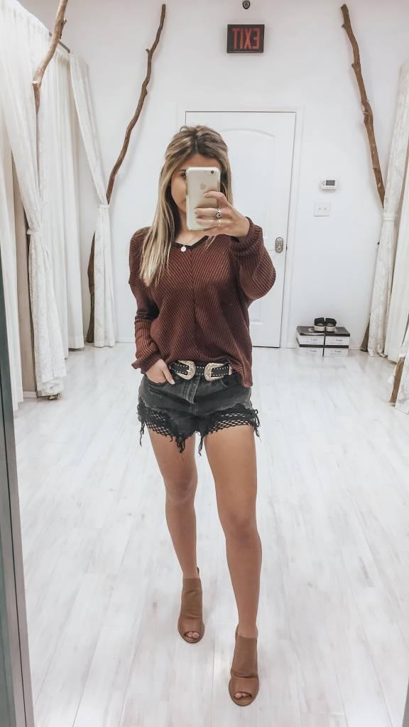 Amber Stripe Sweater