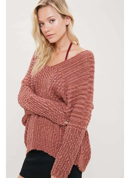 Wishlist V-Neck Textured Sweater