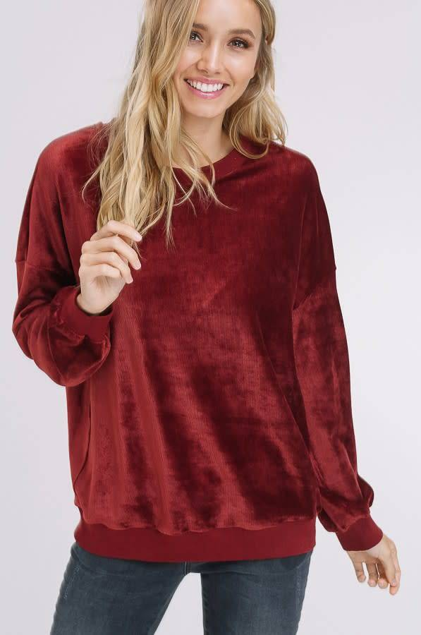 Listicle Corduroy Sweatshirt