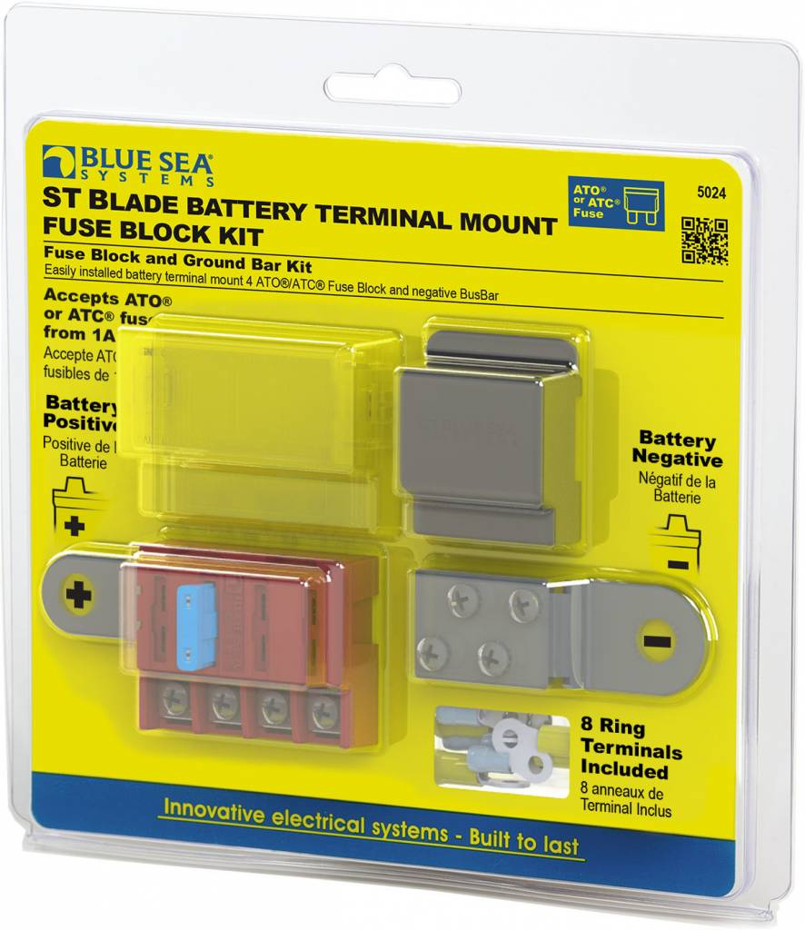 Blue Sea BLUE SEA 5024 Batt Term Fuse Block Kit