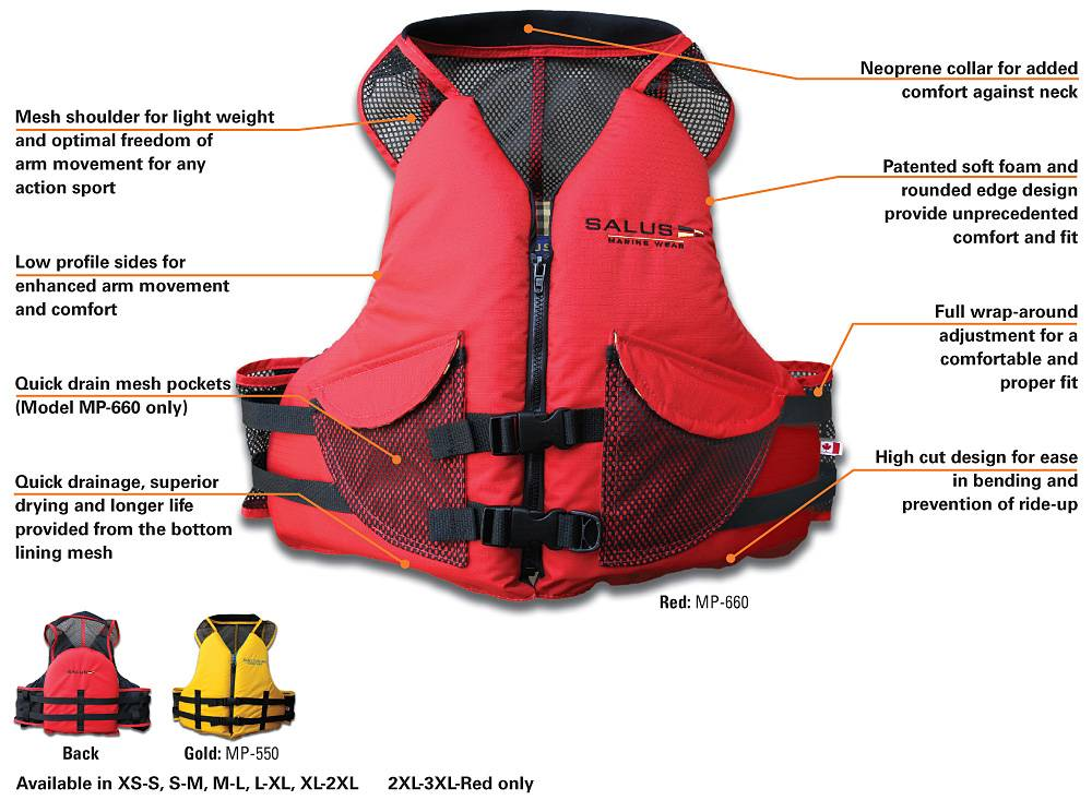 Salus SALUS COMFORT FIT W/POCKETS MP-660