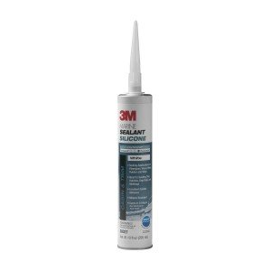3M Products 3M MILDEW RESISTANT SILICONE WHITE 10oz CARTRIDGE 8027