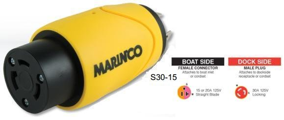 Marinco S30-15 MARINCO EEL STRAIGHT ADAPTER
