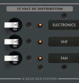 Blue Sea BLUESEA DC PANEL 3POS 3-BREAKER 8025