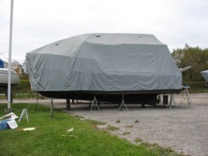 winter boat cover