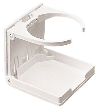 SEADOG SEADOG ADJUSTABLE FOLDING DRINK HOLDER - WHITE 588221